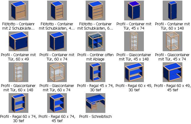 Flötotto Profilsystem design möbel für arcon